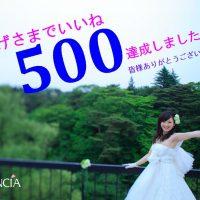 ありがとう♪500いいね!!