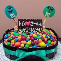 m&m ケーキ